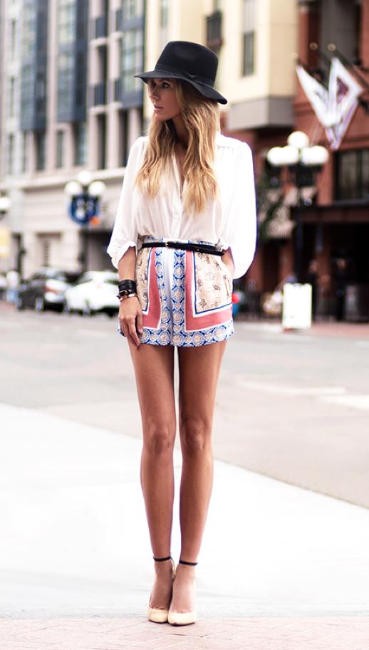 GET THE LOOK – Shorts Estampados