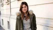 GET THE LOOK – Parka and an Striped Sweater