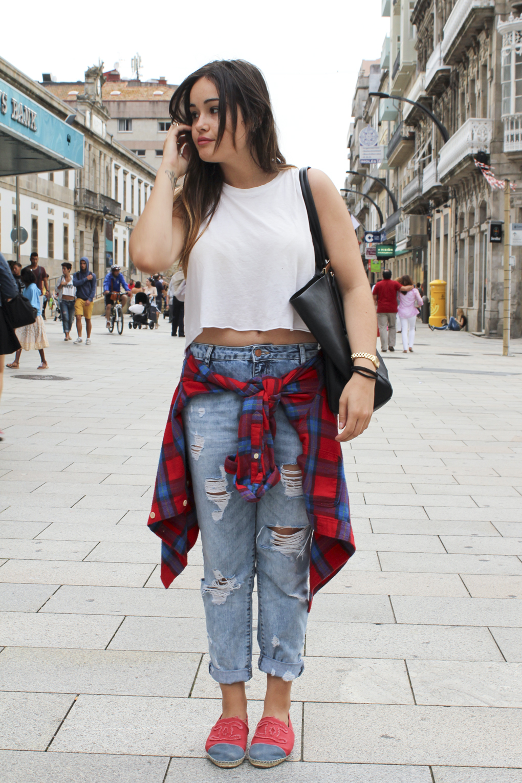 Streestyle+streetstylevigo+streetstylegalicia+lookgrounge+outfitcamisaanudada