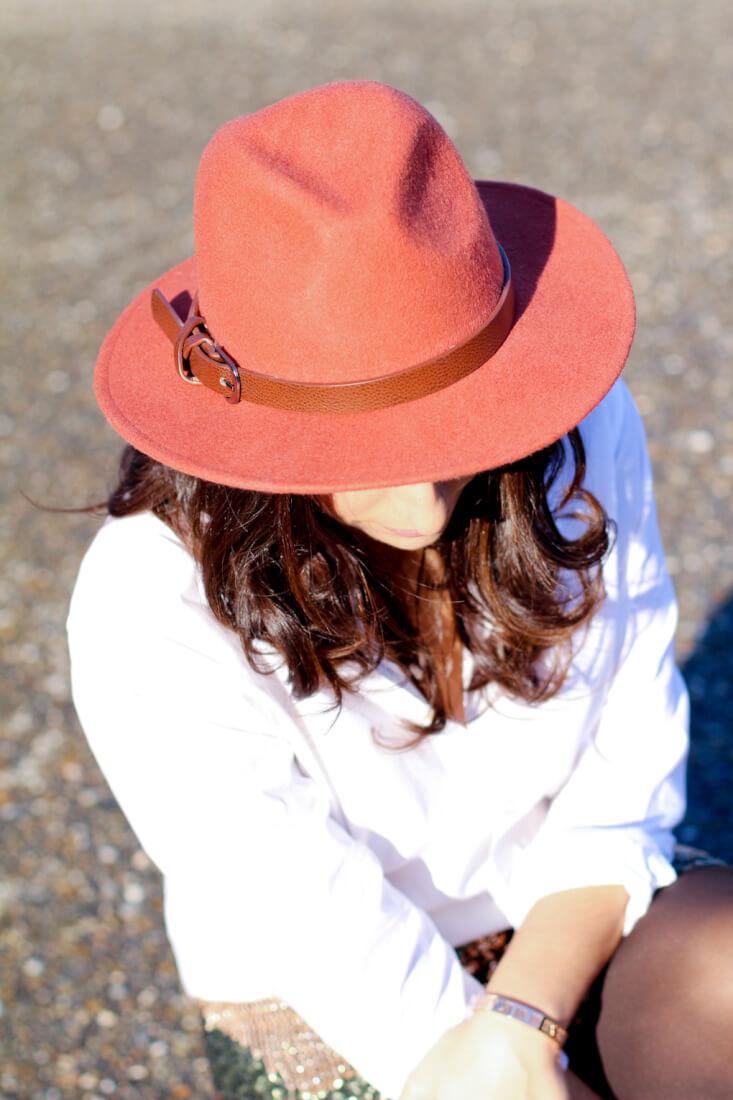 sombrero-ala-ondas-como-combinar-sombrero-ala-look-con-sombrero-siemprehayalgoqueponerse-blogger-vigo-blog-moda-vigo-look-con-falda-lentejuelas-camisa-blanca