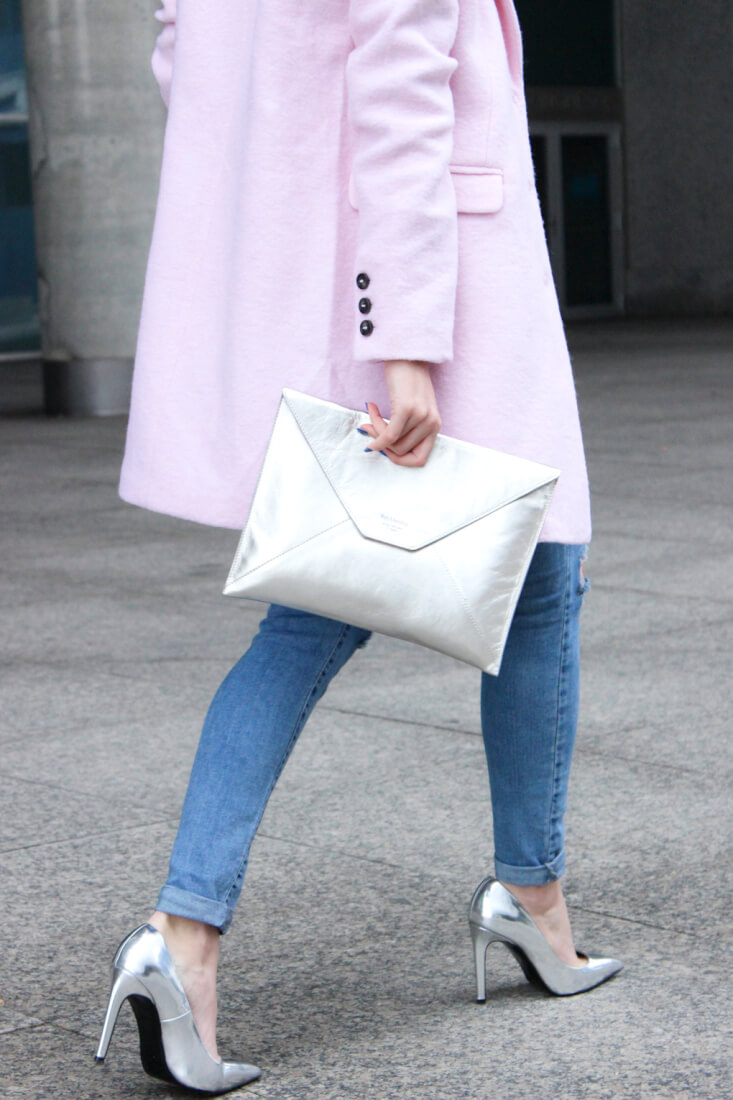 fashion-pink-coat-heels-silver-streetstyle