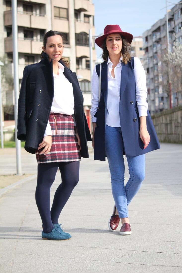 siempre-hay-algo-que-ponerse-looks-azulmarino-gran te-blanco-blog-moda-vigo-pontevedra-galicia-españa-chaleco-abrigo-falda-cuadros
