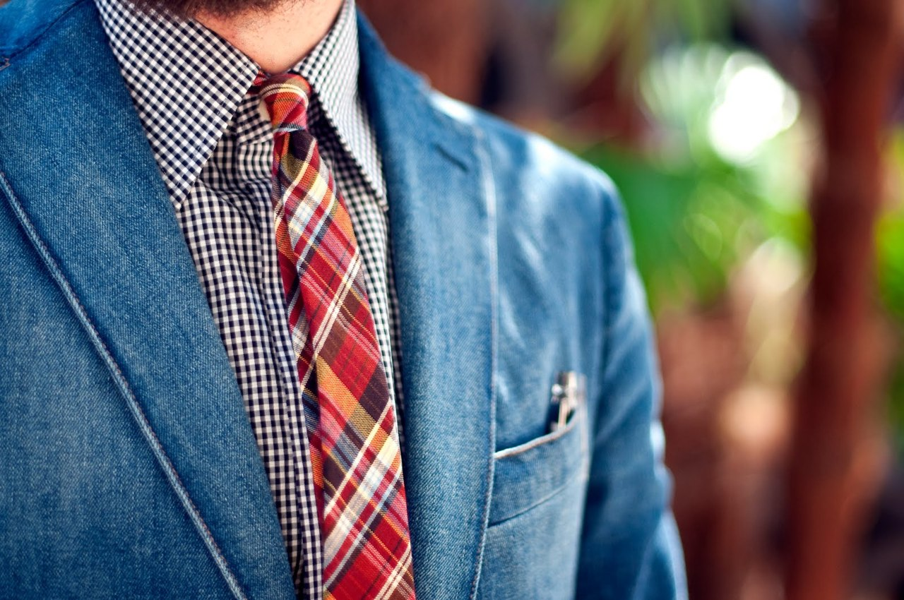 Denim-jacket-madras-tie-streetstyle-men-fashion-inspiración-masculina-primavera