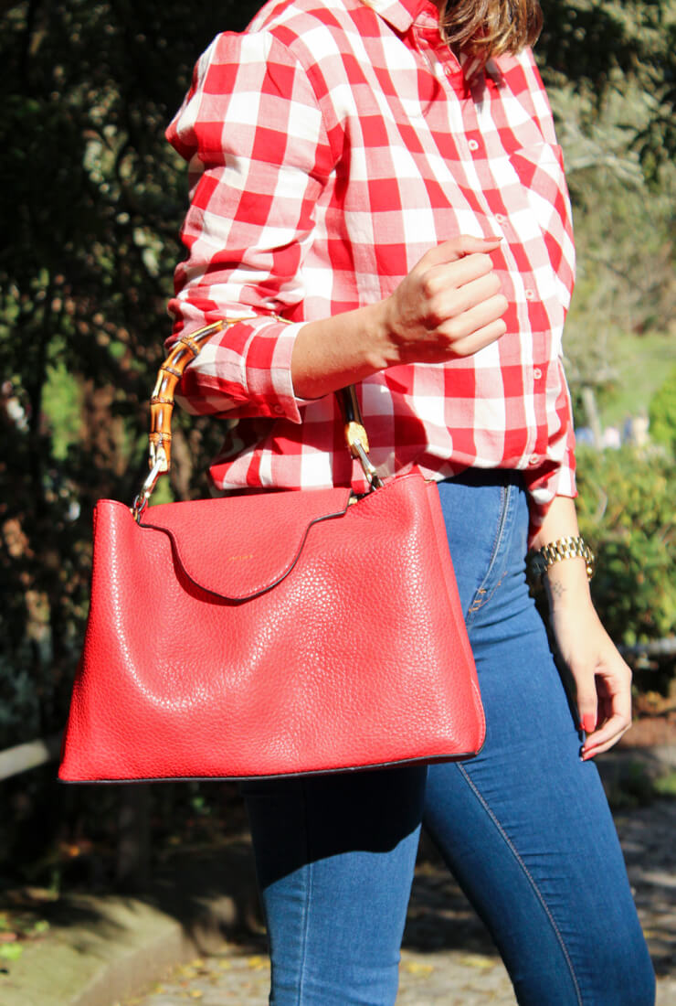 camisa-cuadros-rojo-pullandbear-look-tendencia-siemprehayalgoqueponerse