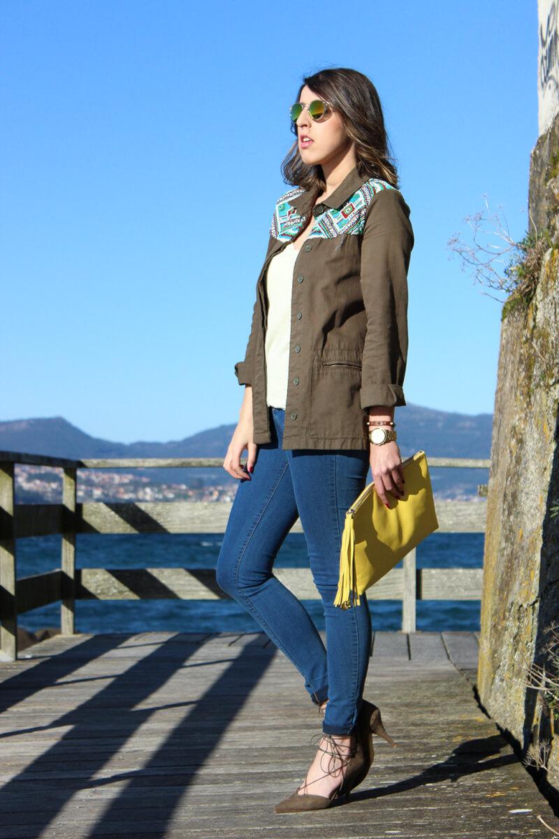 obrecamisa-zara-chaqueta-trafa-estilo-etnico-caqui-jeans-pitillo-bolso-pompon