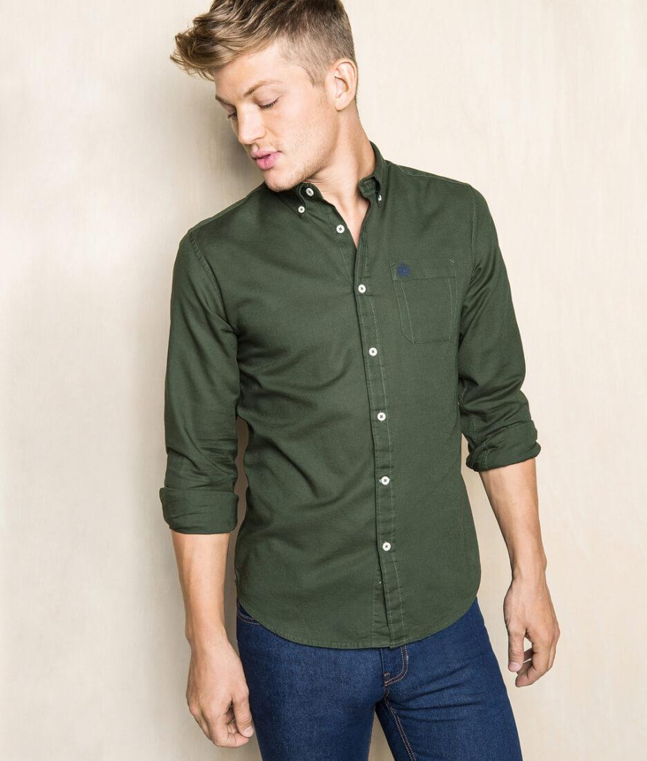 camisa-verde-hombre-springfield-centro-comercial-granvia-vigo-fandelmes