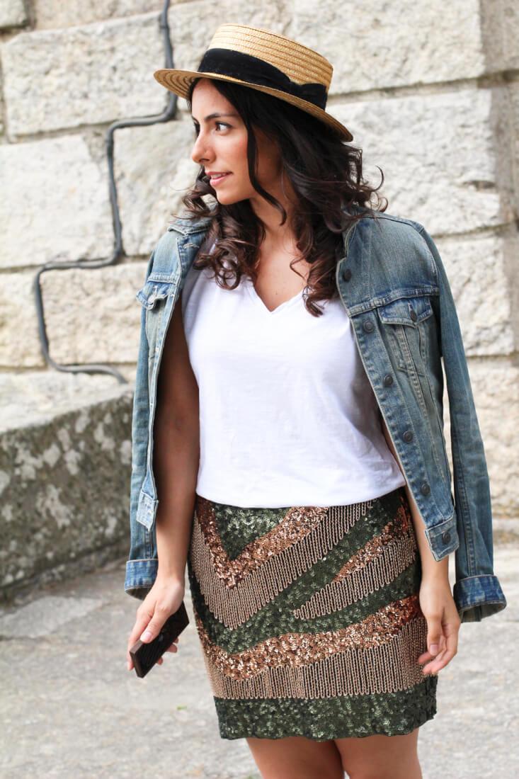 como-combinar-canotier-falda-lentejuelas-consigue-look-canotier-moda-galicia-blog-moda-españa