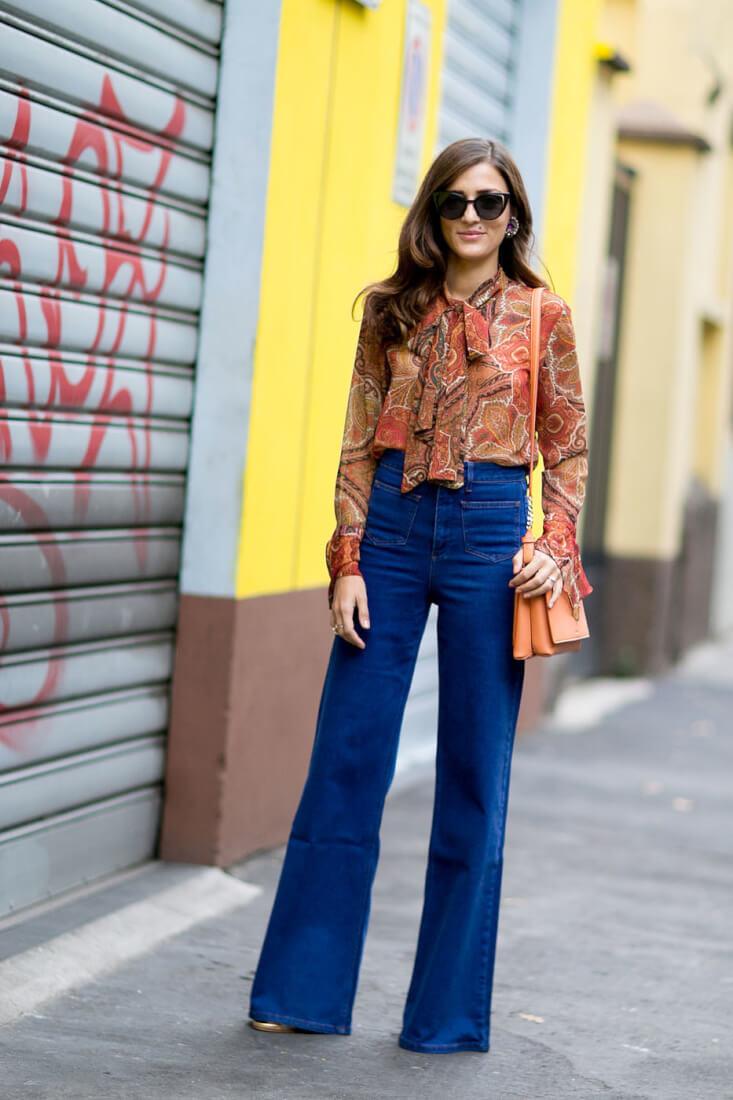 camisa-con-lazada-70s-setentero-tendencia