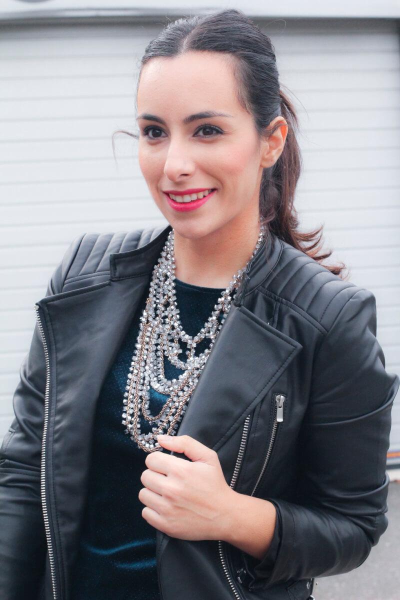 look-perfecto-piel-street-style-biker-look-motero-look-rokero-vestido-terciopelo-zara