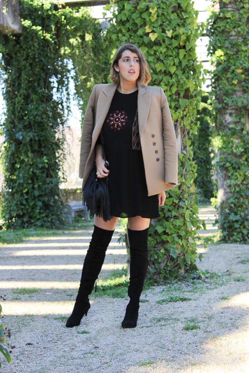 blazer-camel-vestido-estilo-boho-botas-altas-moda-blog-galicia