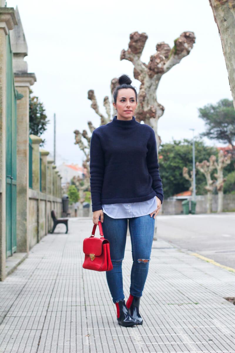 street-style-botas-de-agua-street-style-navy-botines-de-agua