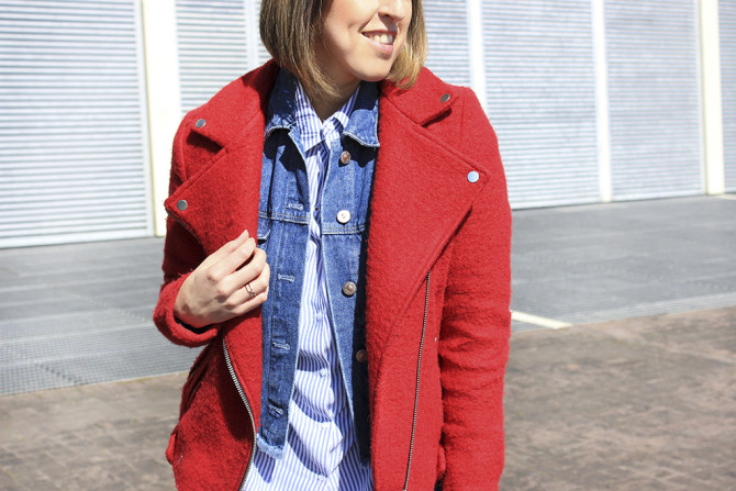 Red perfecto jacket