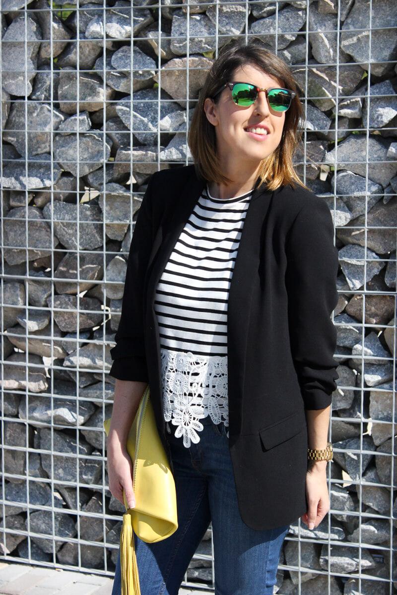 como-combinar-camiseta-encaje-guipur-zara-estampado-rayas-blog-galicia-vigo-moda