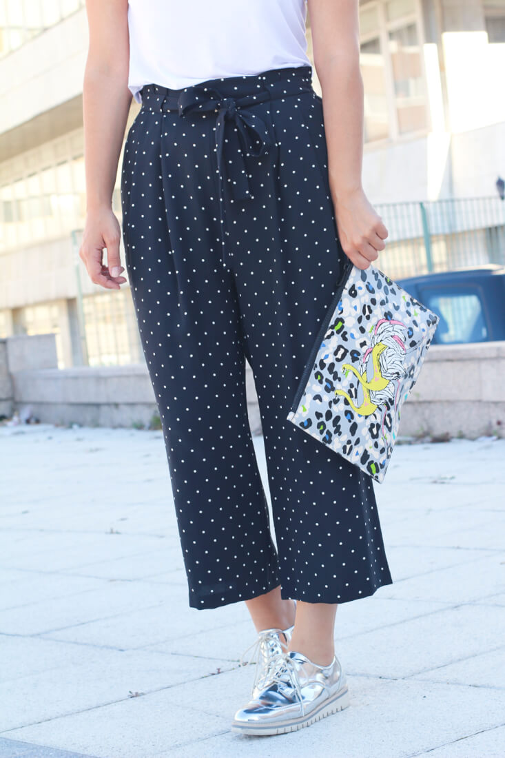 street-style-oxford-culotte-lunares