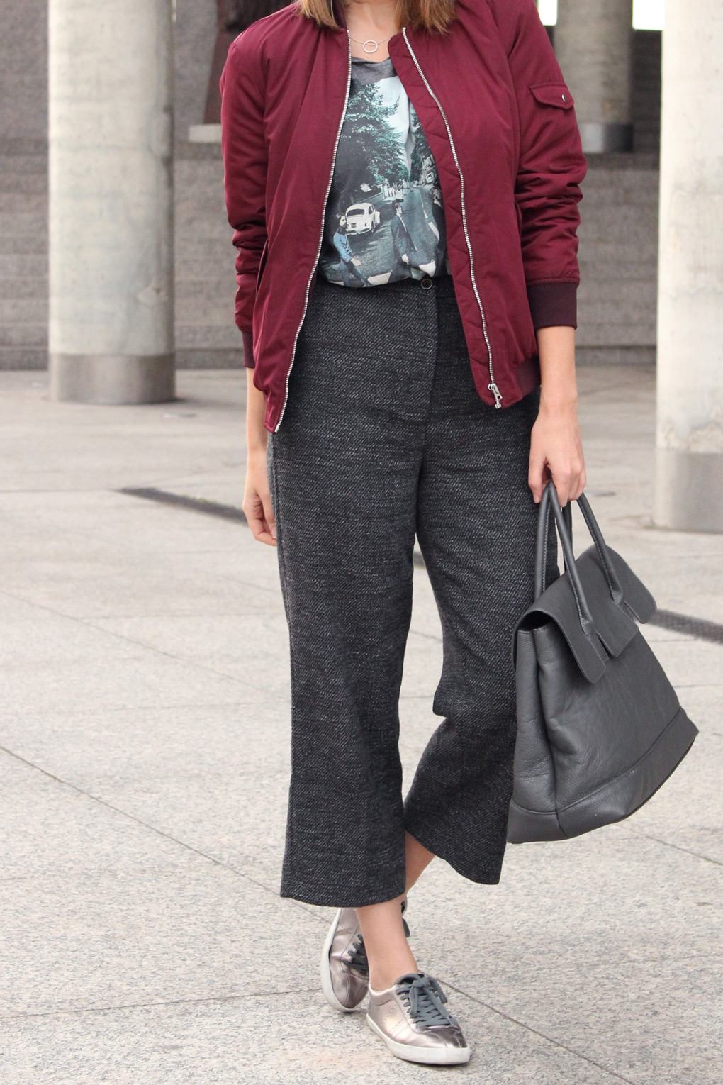 pantalon-cropped-gris-antracita-talle-alto-recto-zara-deportivas-planteadas-shopping-bag-bomber-granate-blog-moda-galicia