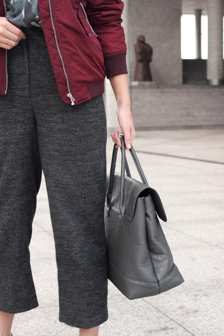 pantalon-cropped-gris-zara-2016-bolso-piel-bomber-granate