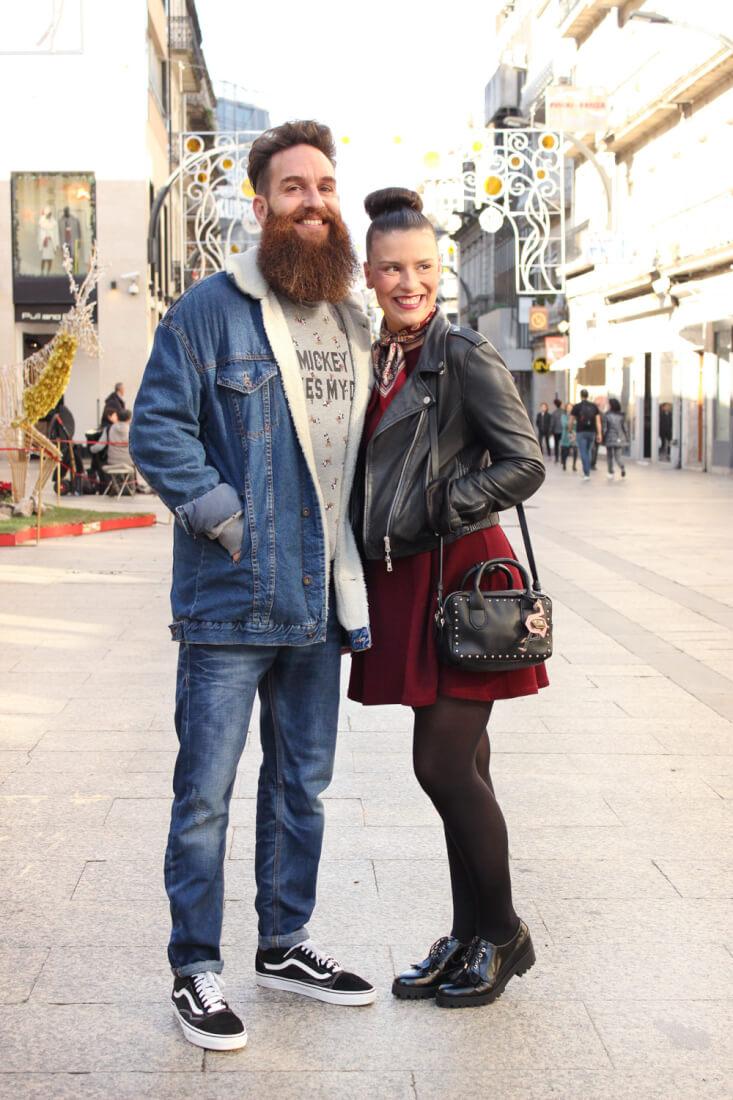 vigo-street-style-moda-galicia-siemprehayalgoqueponerse-tamara-vestido-granate-ivan-total-denim