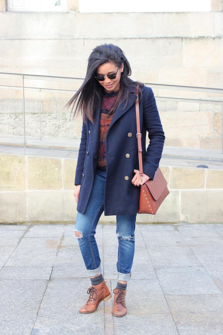 jessica-abrigo-azul-marino-jersey-only-botines-piel