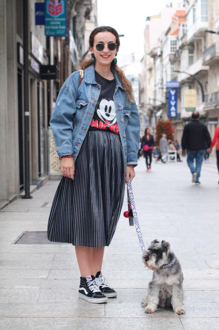 Vigo Street Style. Moda en Galicia. Pendientes piña Parfois