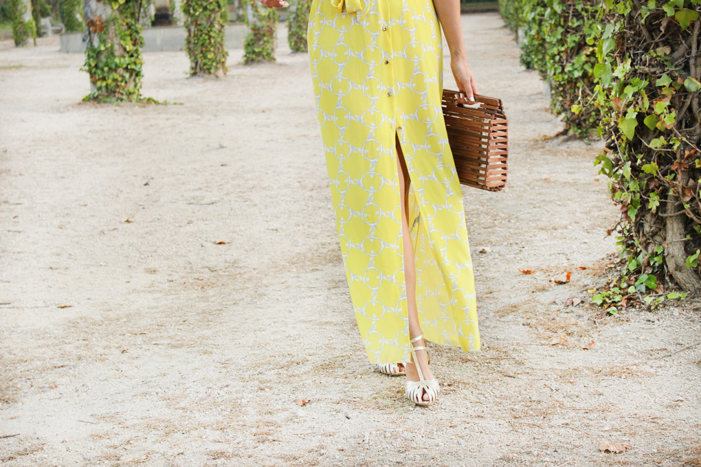 Yellow long dress