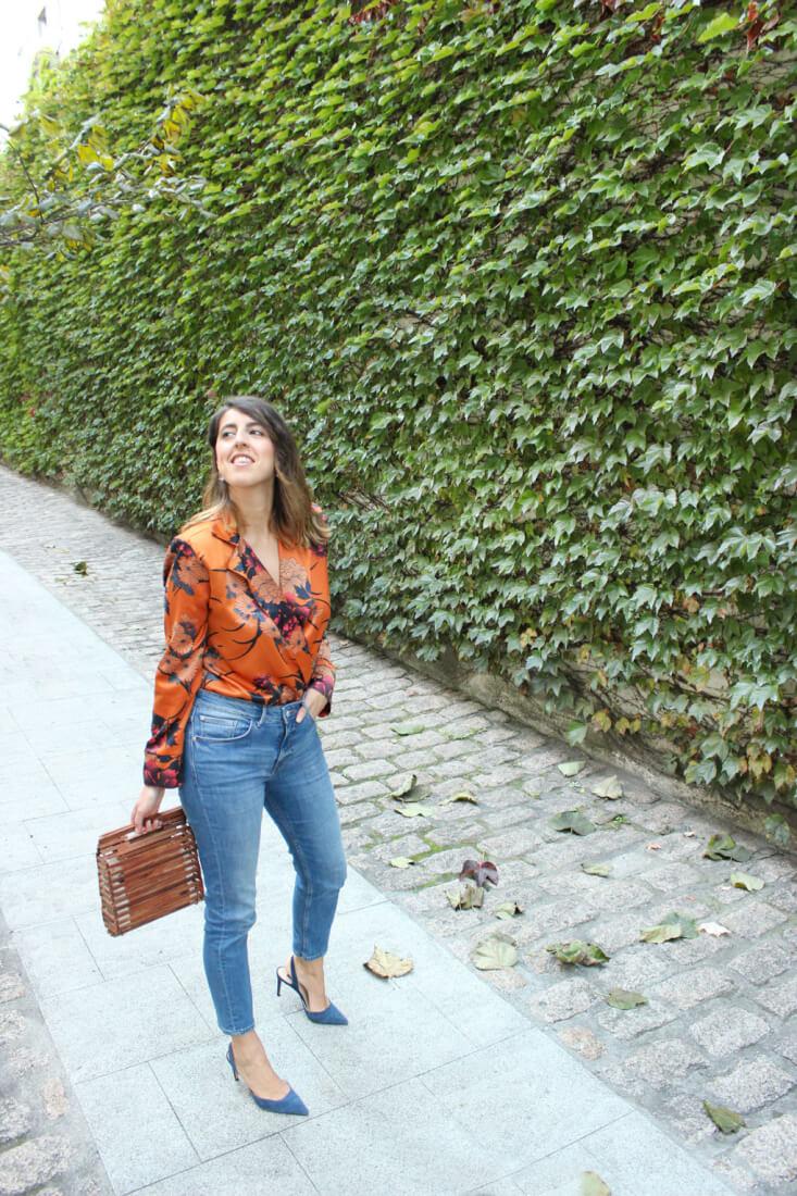 Blog moda español, Siempre hay algo que ponerse. Body naranja de zara.