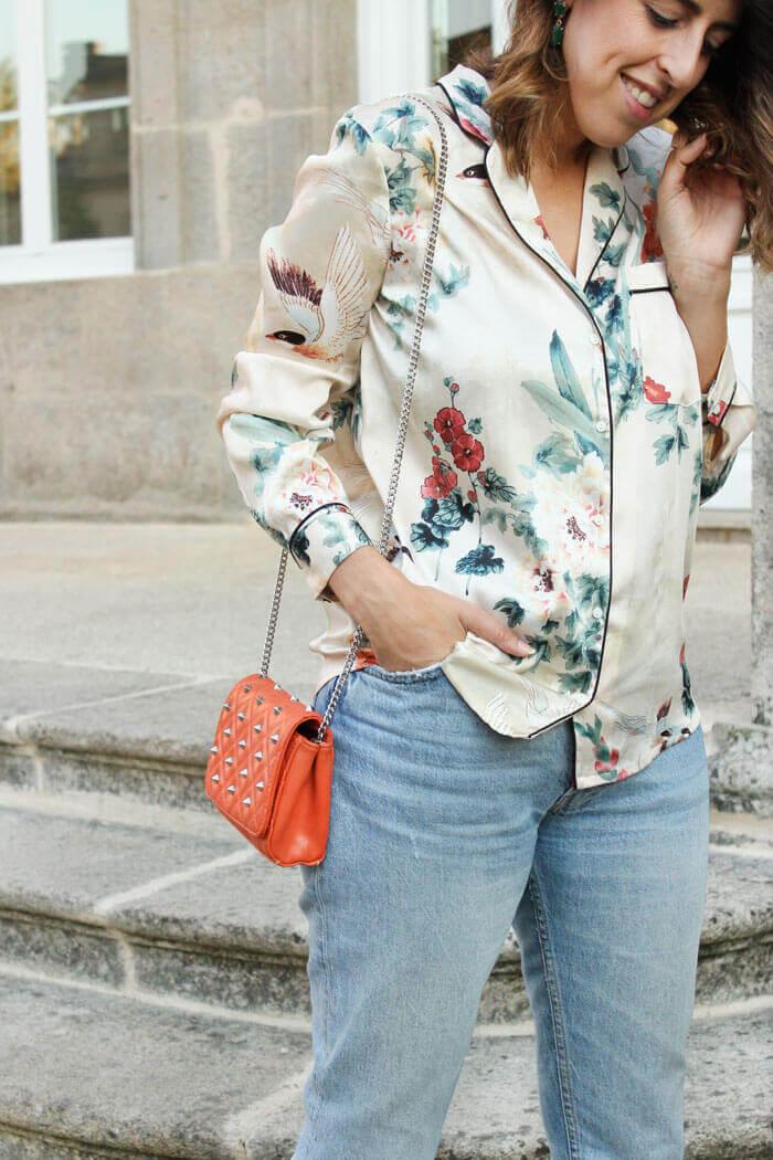 Camisa estilo pijama de Zara, cómo combinarla