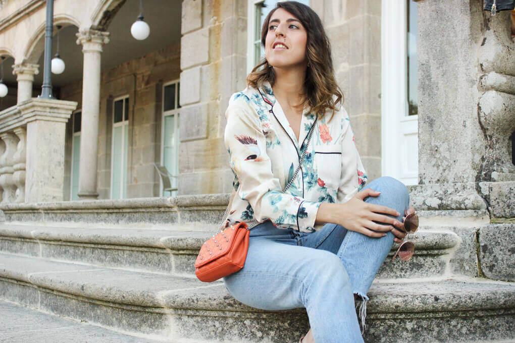 Camisa pijamera de Zara. Blog de Moda de Vigo Siempre Hay Algo Que Ponerse.