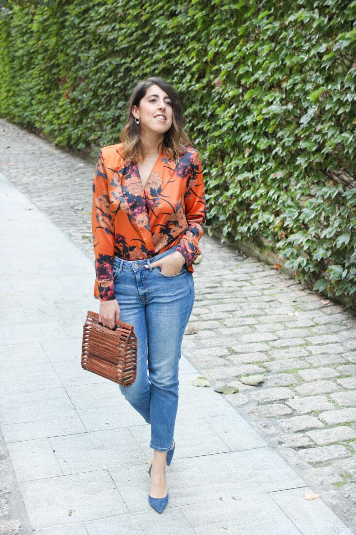 Siempre Hay Algo Que Ponerse, blog de moda de Vigo. Look con body naranja de Zara.