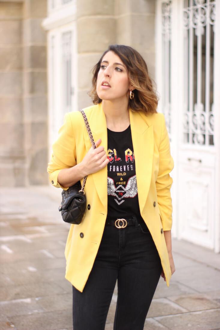Blazer amarilla. Blog de Moda en Vigo