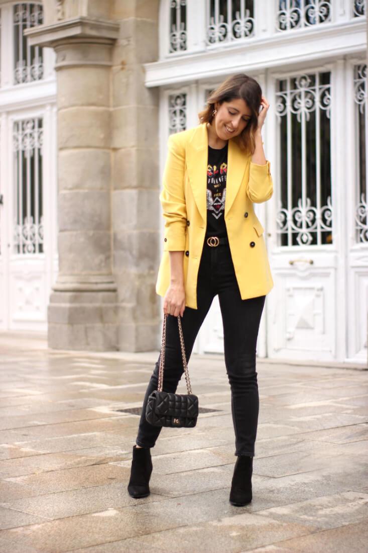 Blazer amarilla. Blog Siempre Hay Algo Que Ponerse
