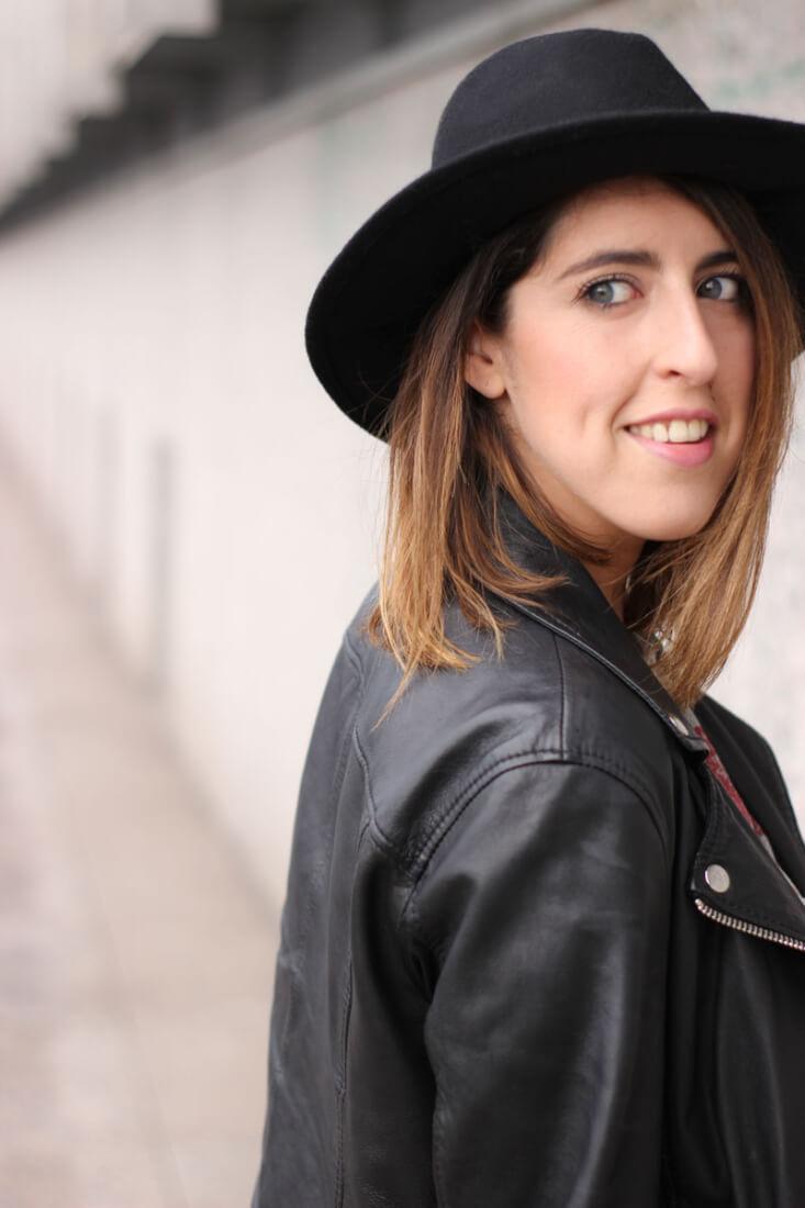 Sombrero negro. Blog moda de VIgo.