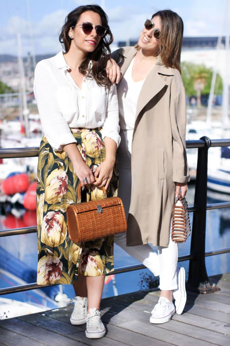 street style falda midi street style trench multiópticas contalén siempre hay algo que ponerse