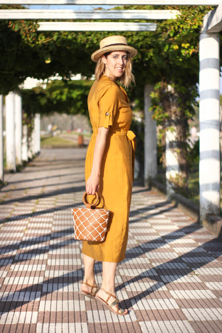 vestido-camisero-zara-color-mostaza