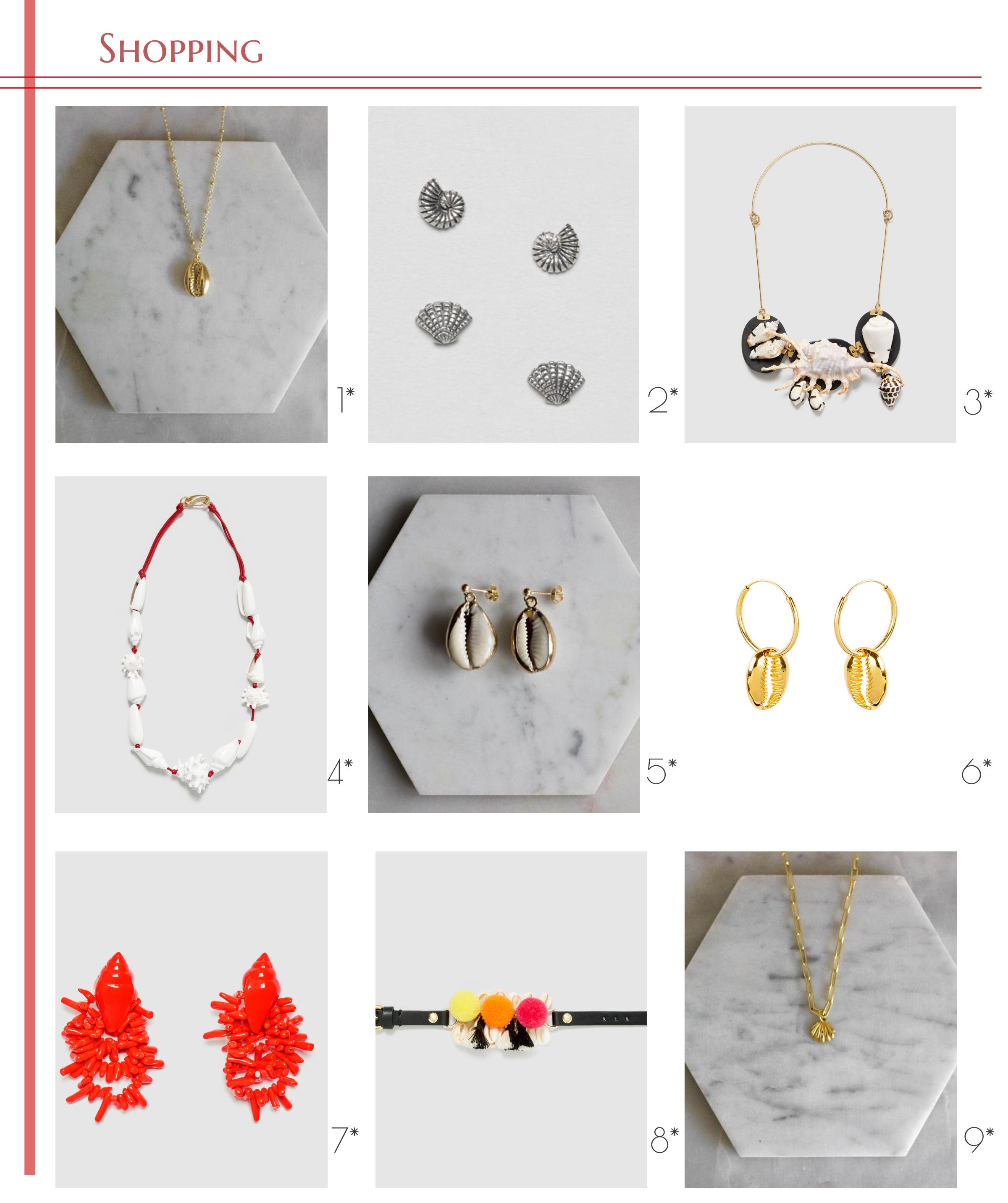 accesorios con conchas shopping