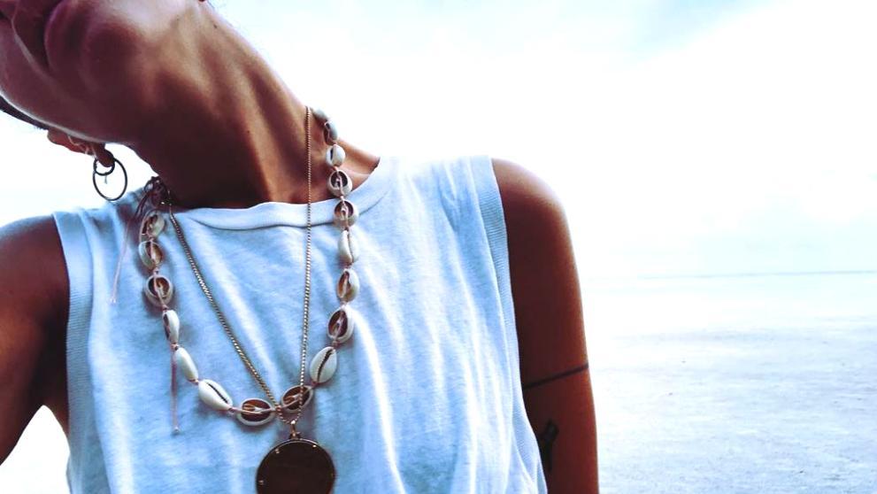 collar de conchas accesorios con conchas