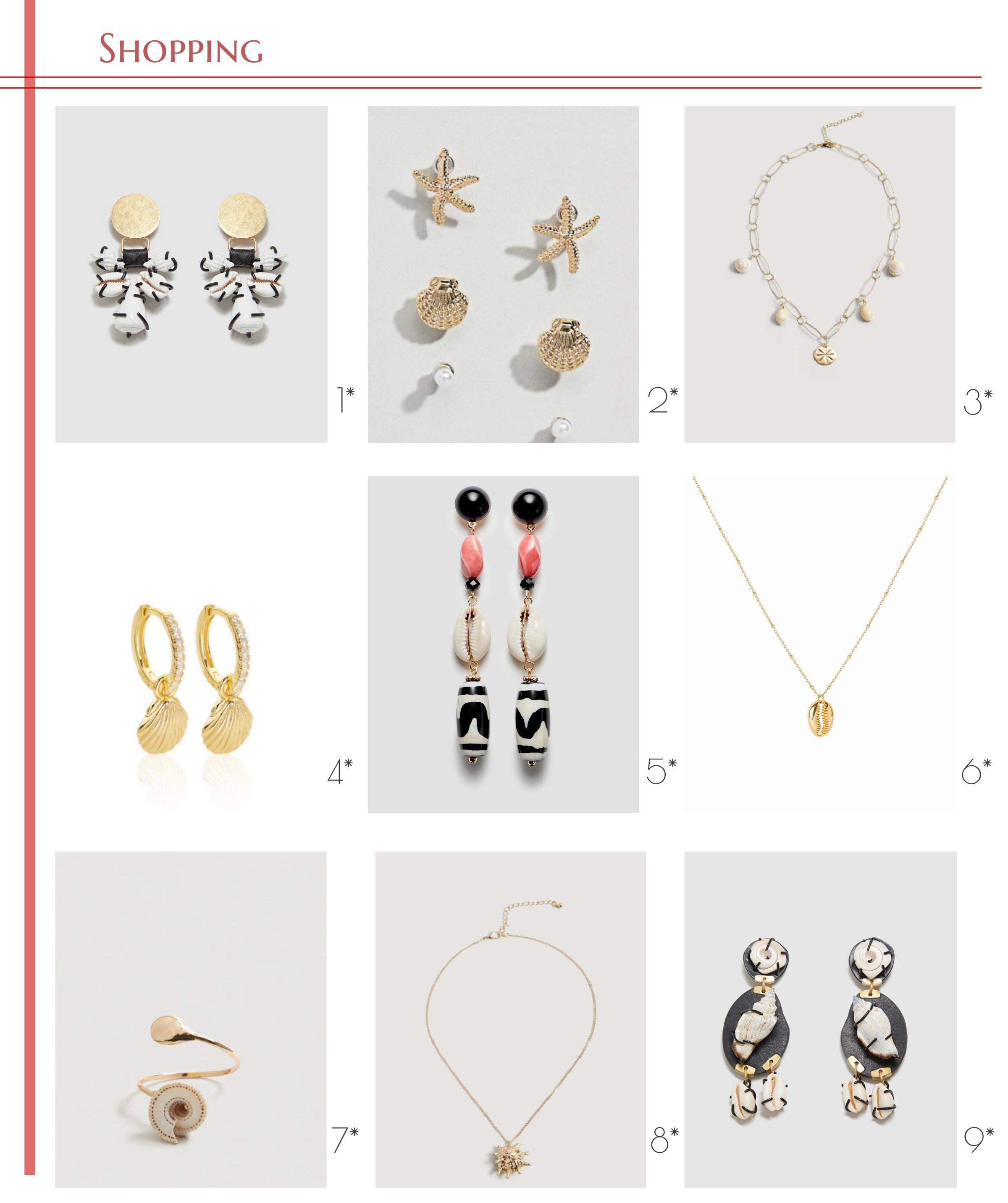 shopping accesorios con conchas