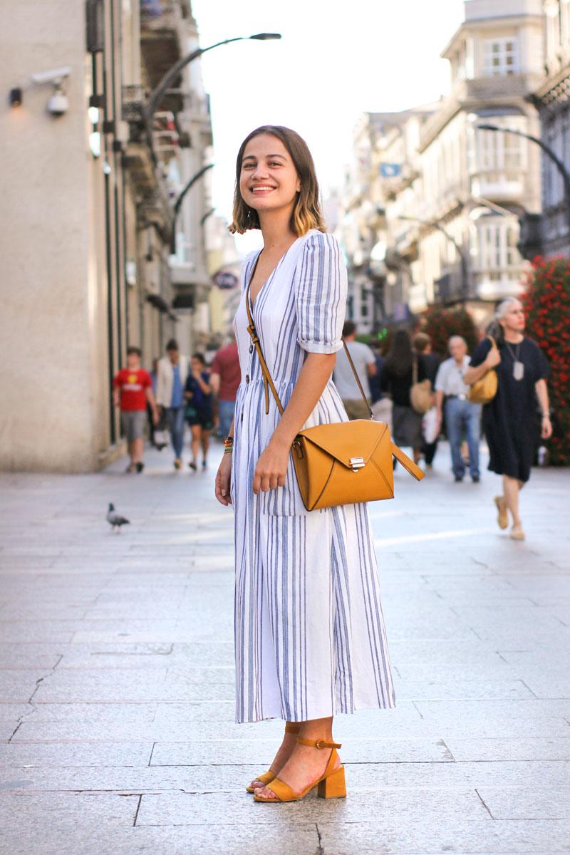 Street Style Vigo Agosto 2018. Vestido rayas.