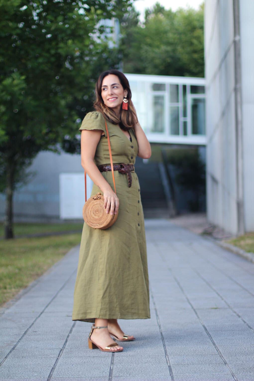 vestido lino siempre hay algo que ponerse bolso balines