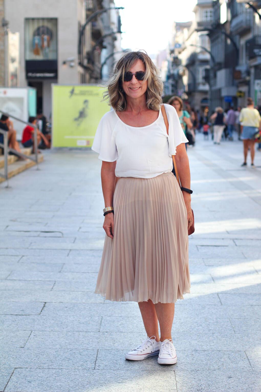 street style falda plisada street style septiembre vigo