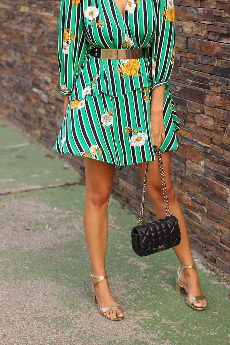Vestido rayas verde de Sfera