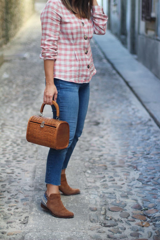 siemprehayalgoqueponerse-camisa-de-cuadros-bolso-de-madera-street-style-camisa-de-cuadros