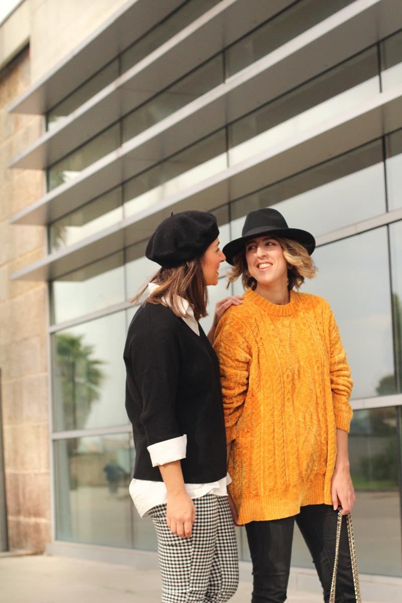 boina-negra-sombrero-jersey-mostaza
