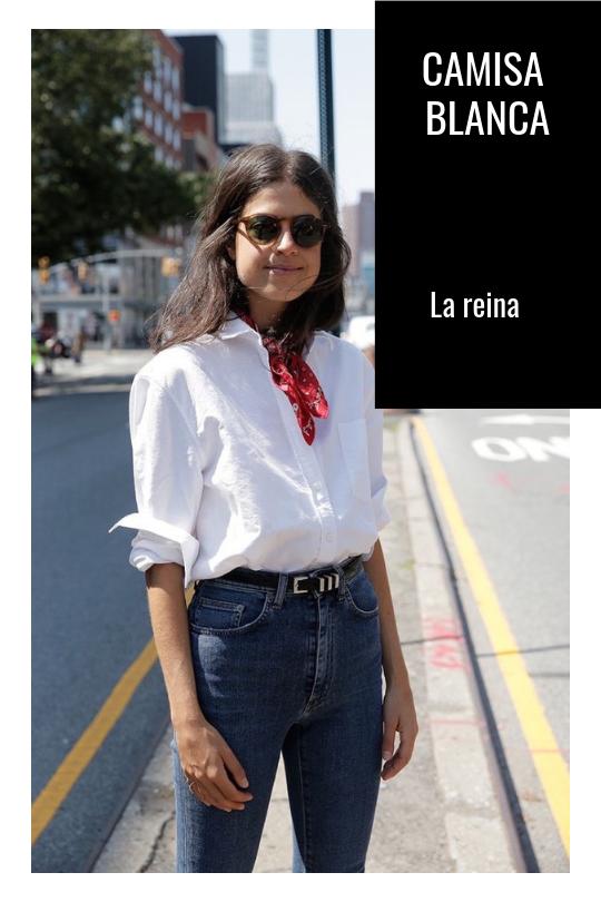 Camisa blanca. Las 5 camisas que no pueden faltar en tu armario