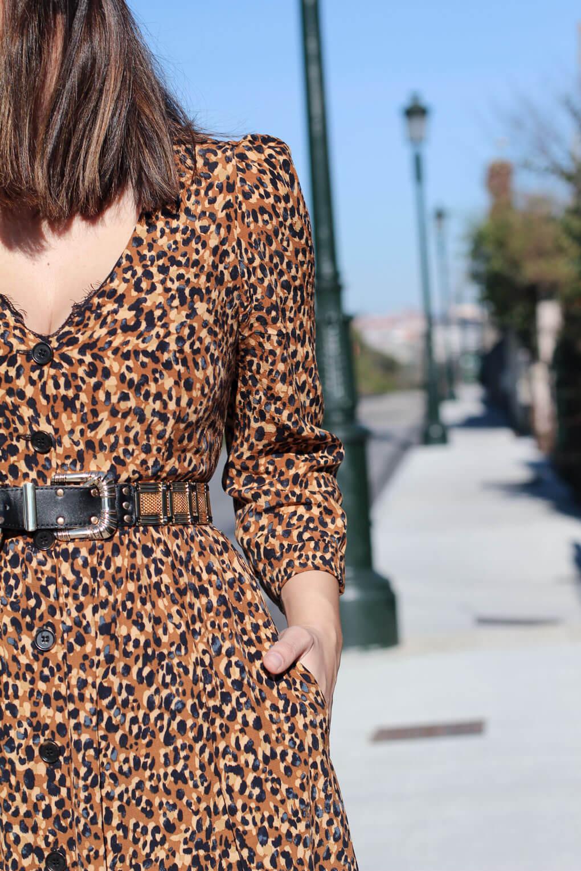 street style gold belt street style leopardo