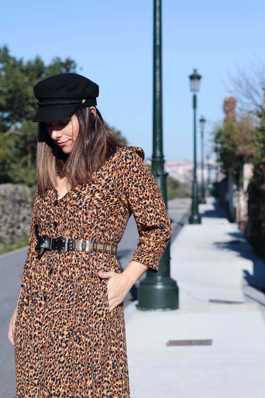 street style gorra marinera como combinar tu vestido de leopardo street style leopardo