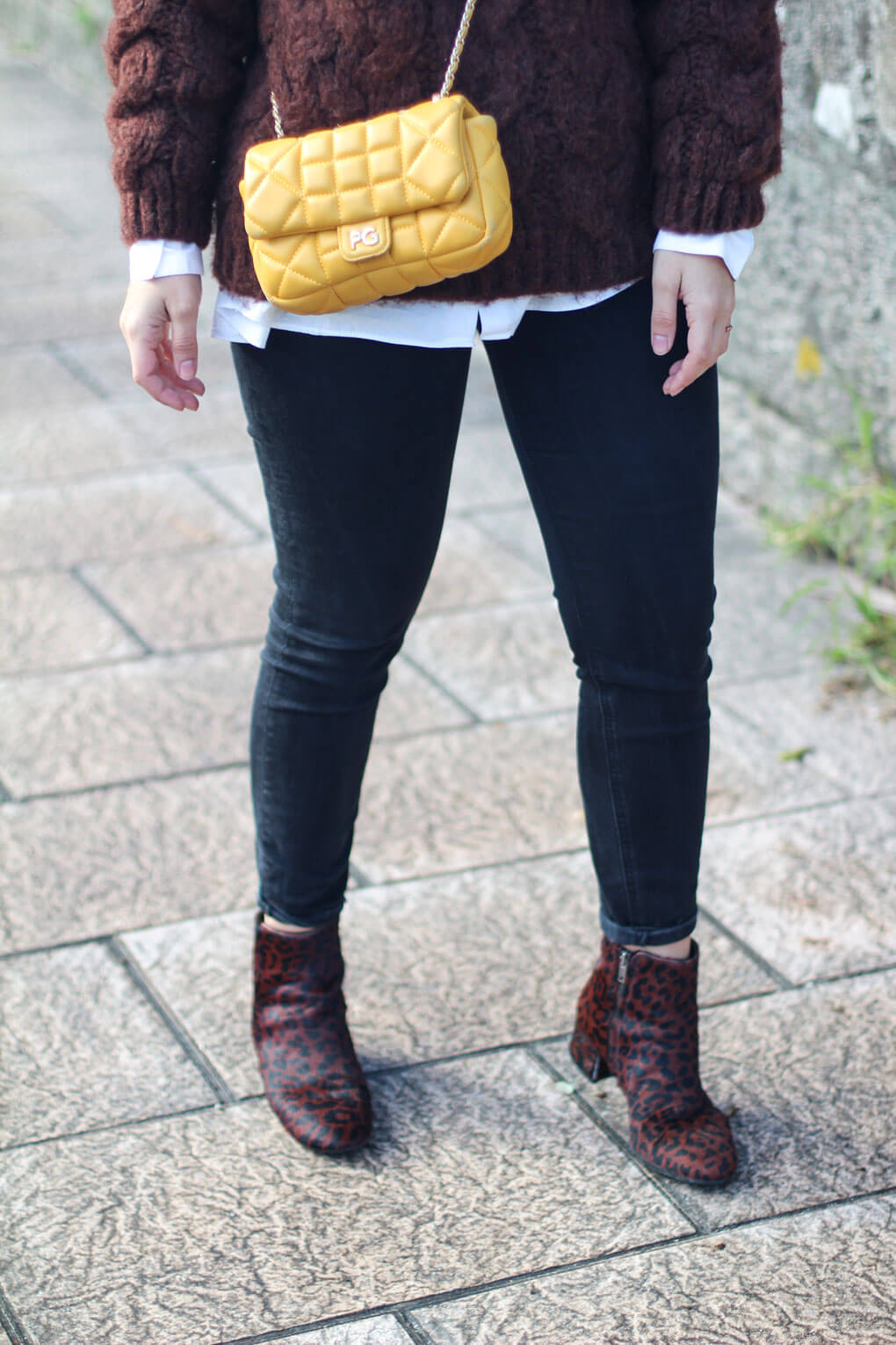street style leopard boots street style ankle boots bolso amarillo