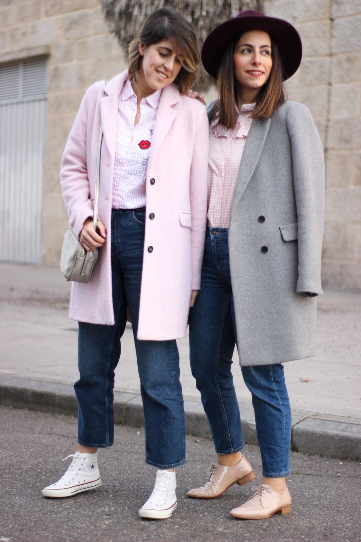gris y rosa siempre hay algo que ponerse blog moda galicia look en rosa