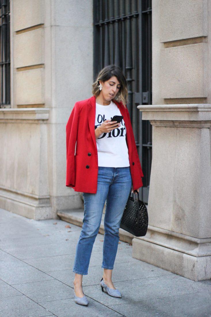 camiseta-oh-my-dior-blazer-roja-tacones-vichy