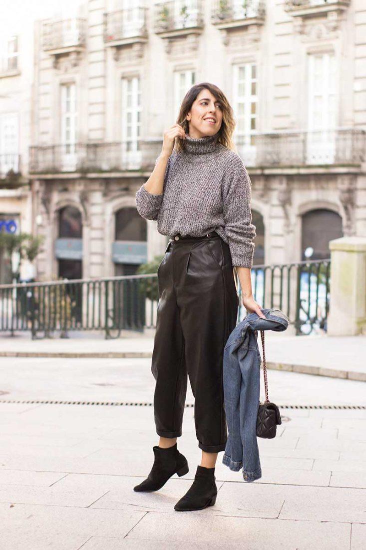 pantalones-efecto-piel-slouchy-negros