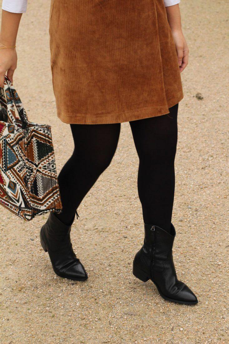look-con-botas-camperas-street-style-vestido-pana-pichi-de-pana